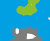 akvapona logotipas žuvis